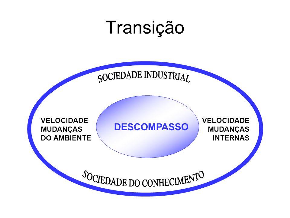 Transição DESCOMPASSO VELOCIDADE MUDANÇAS DO AMBIENTE