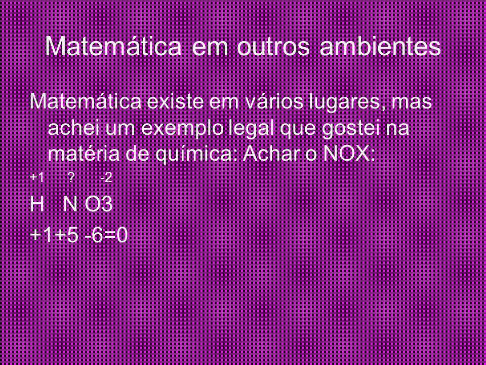 Matemática em outros ambientes