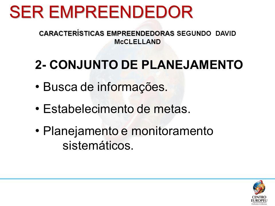 CARACTERÍSTICAS EMPREENDEDORAS SEGUNDO DAVID McCLELLAND