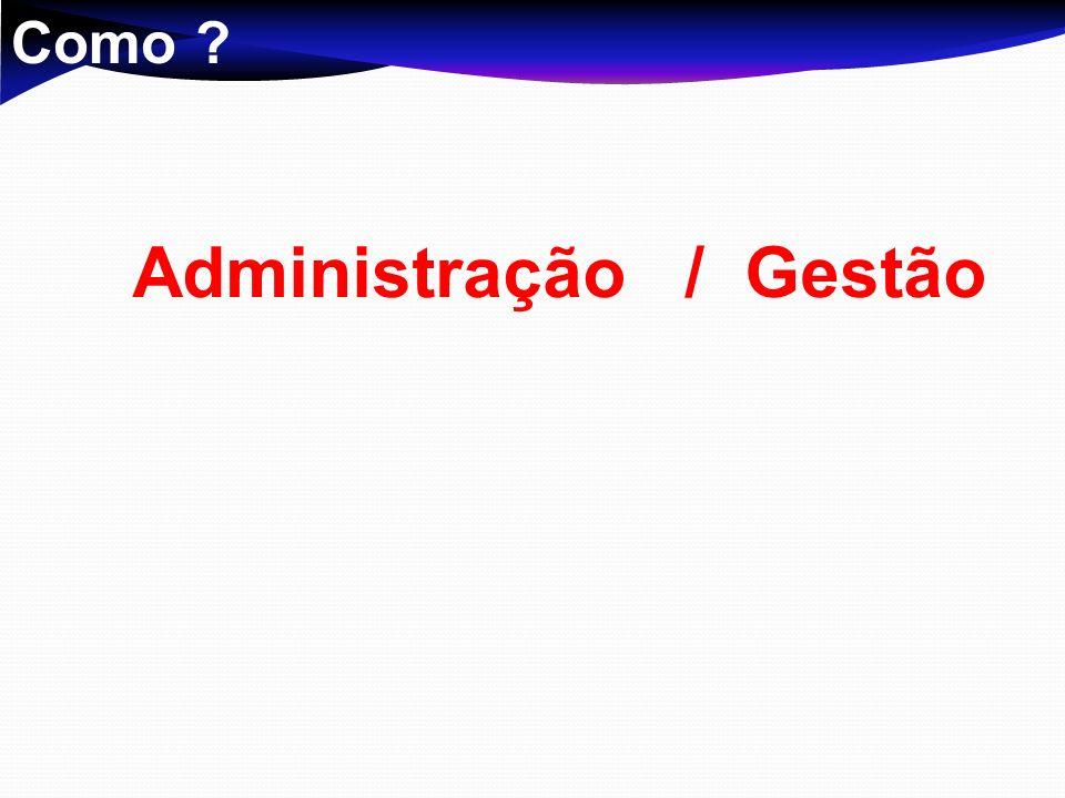 Administração / Gestão