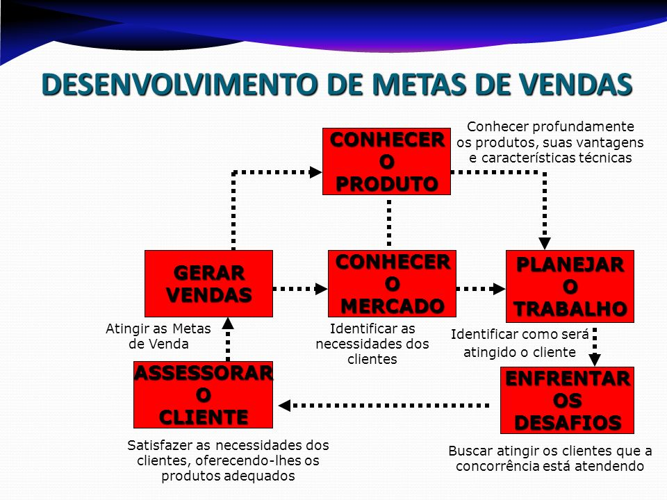 DESENVOLVIMENTO DE METAS DE VENDAS