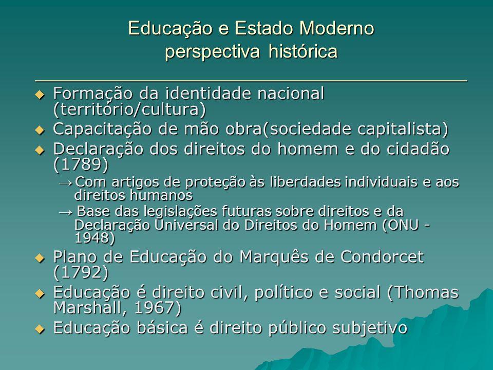 Educação e Estado Moderno perspectiva histórica _______________________________________________