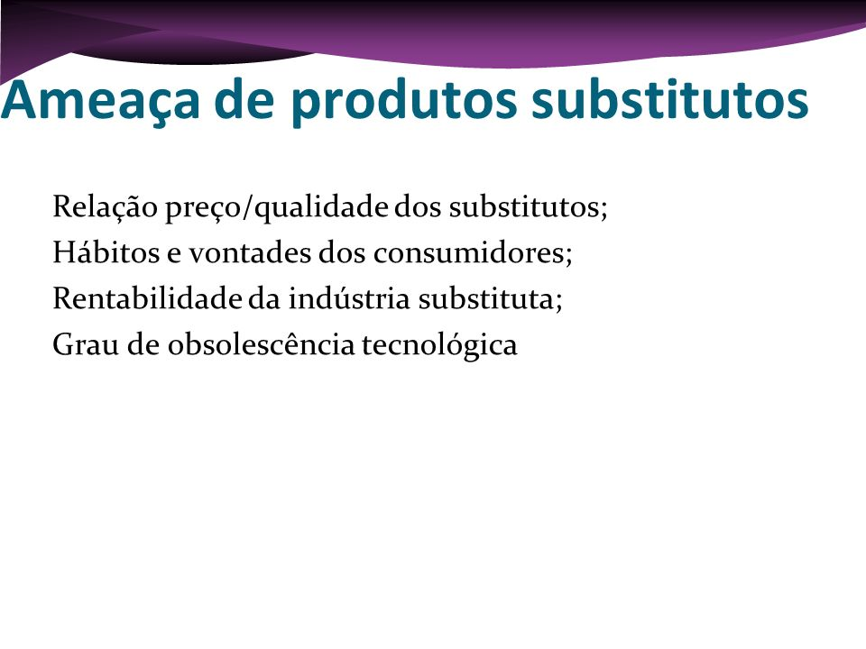 Ameaça de produtos substitutos