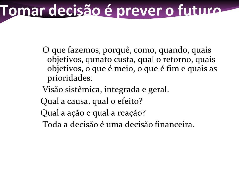 Tomar decisão é prever o futuro