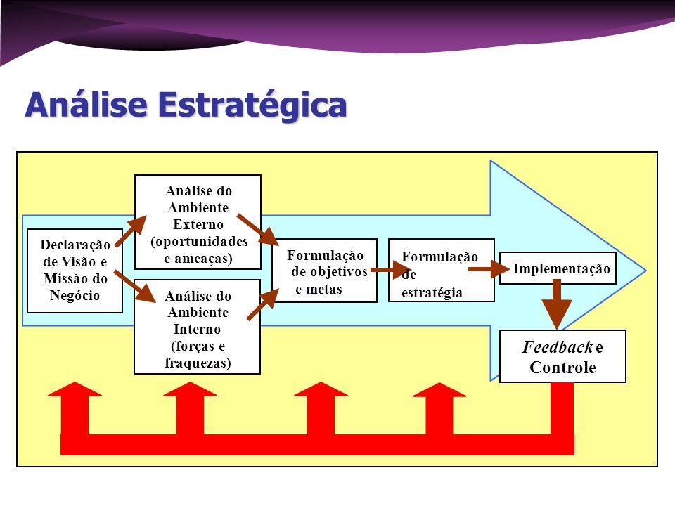 Análise Estratégica Feedback e Controle Análise do Ambiente Externo