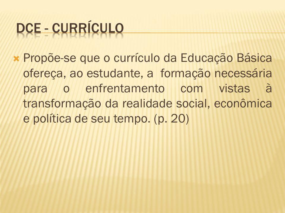 dce - CURRÍCULO