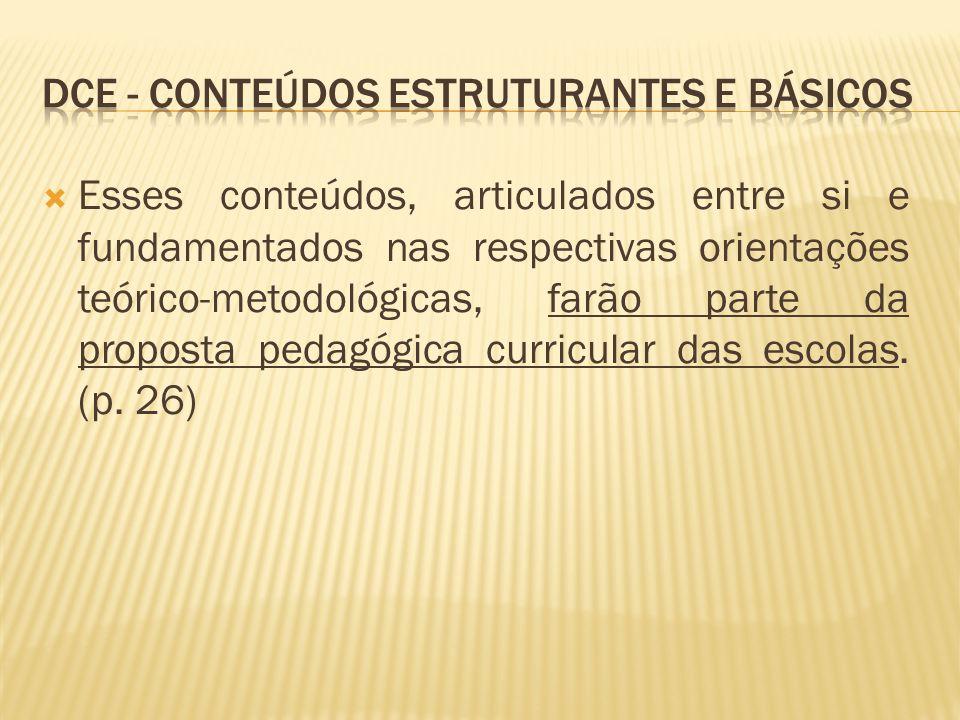 Dce - Conteúdos estruturantes e básicos