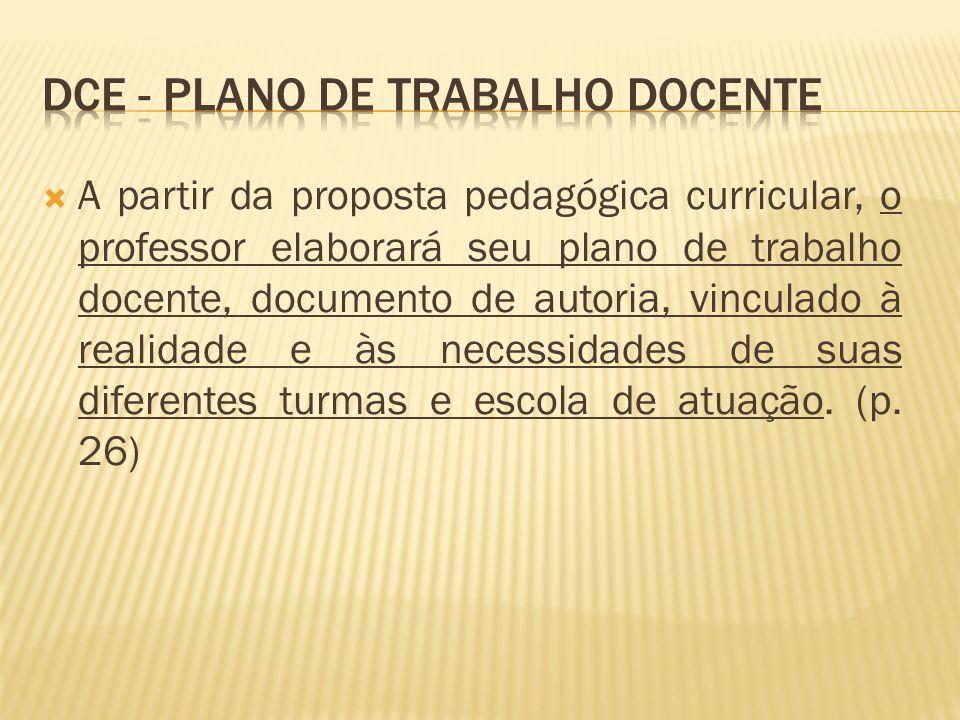 Dce - Plano de trabalho docente