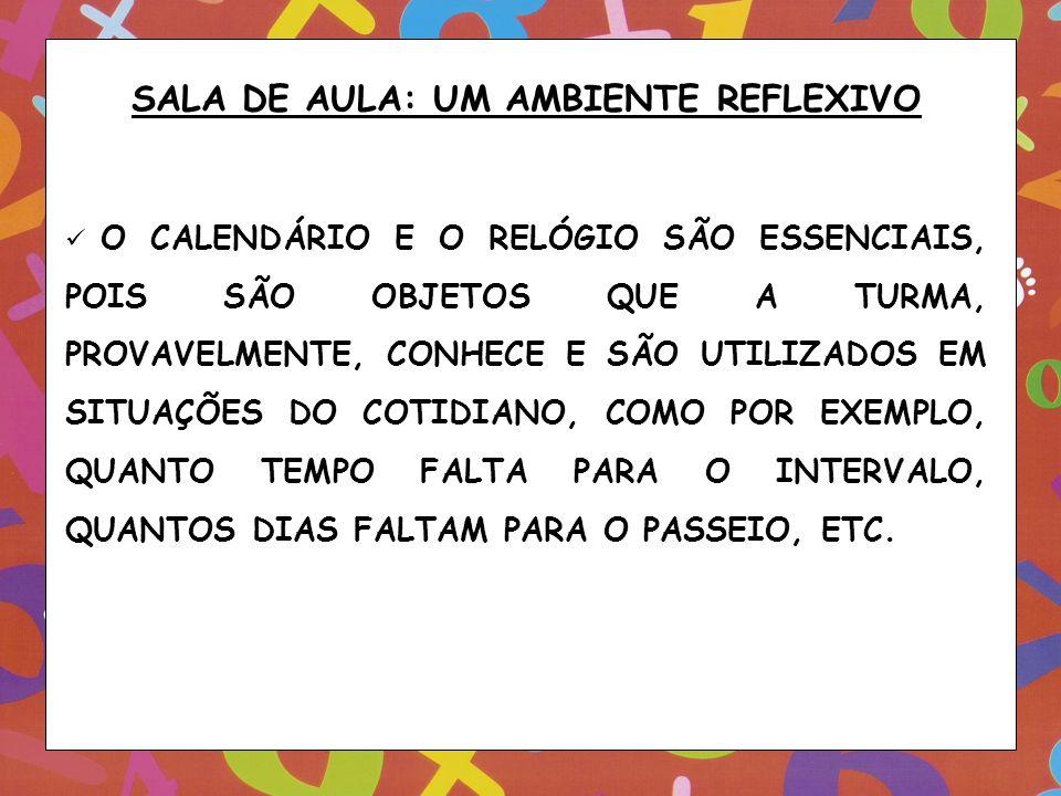 SALA DE AULA: UM AMBIENTE REFLEXIVO