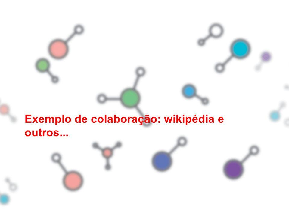 Exemplo de colaboração: wikipédia e outros...