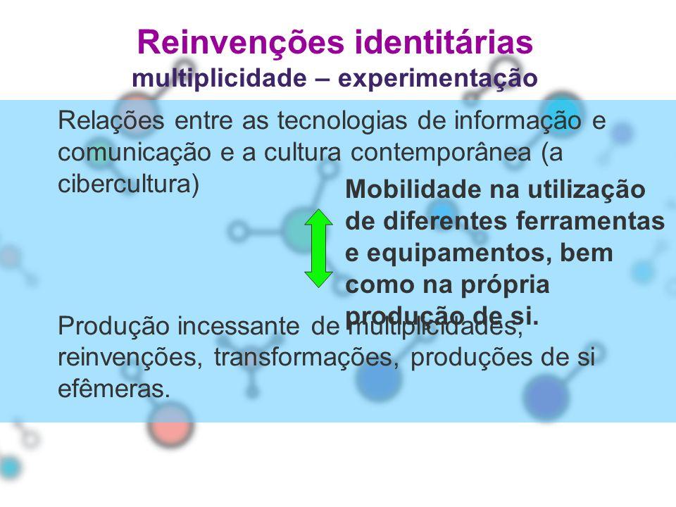 Reinvenções identitárias multiplicidade – experimentação