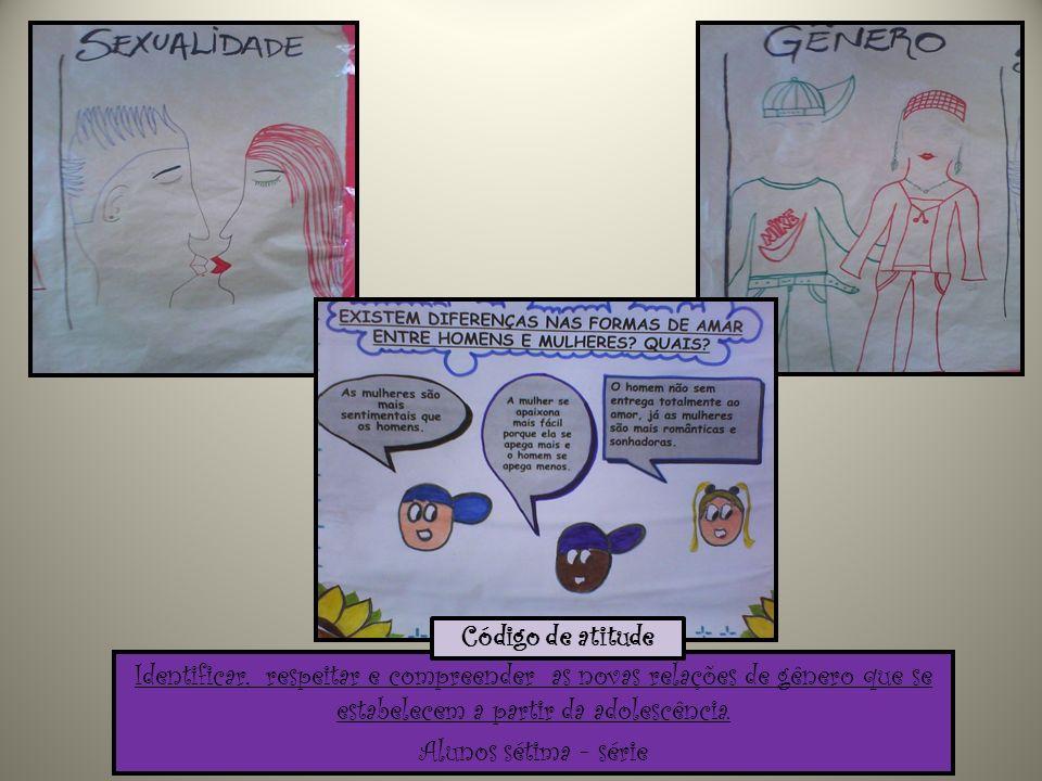Código de atitude Identificar, respeitar e compreender as novas relações de gênero que se estabelecem a partir da adolescência.