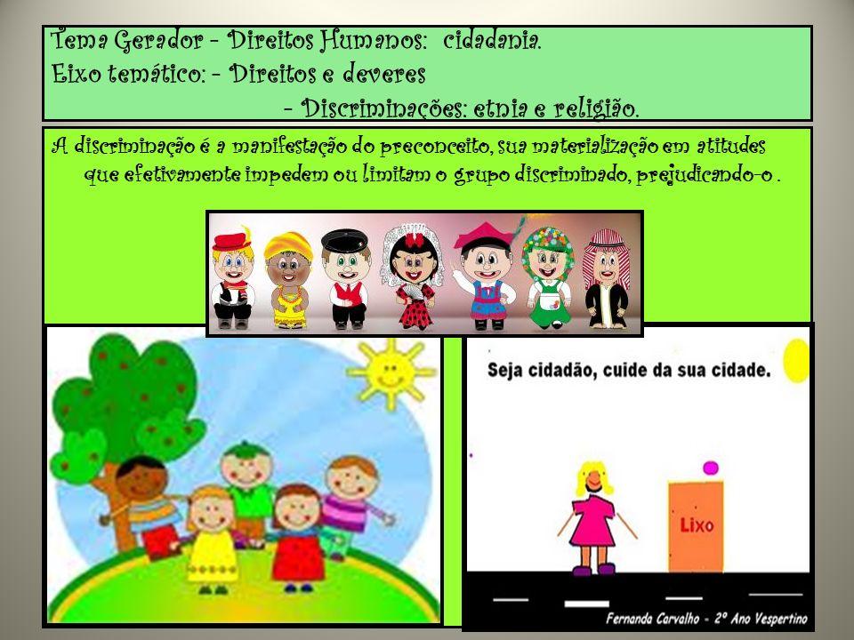 Tema Gerador - Direitos Humanos: cidadania