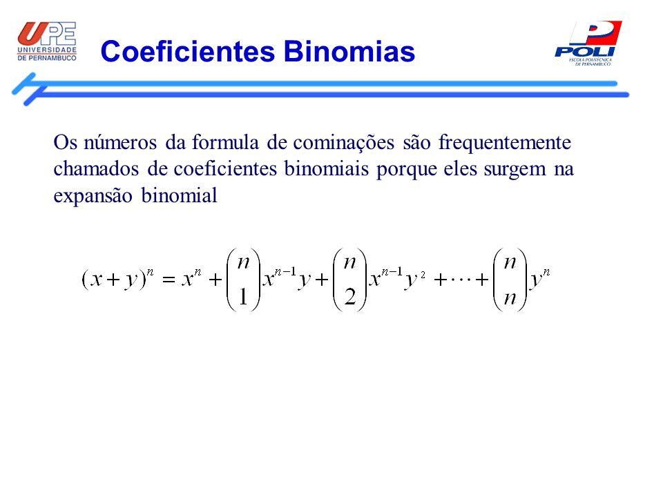 Coeficientes Binomias