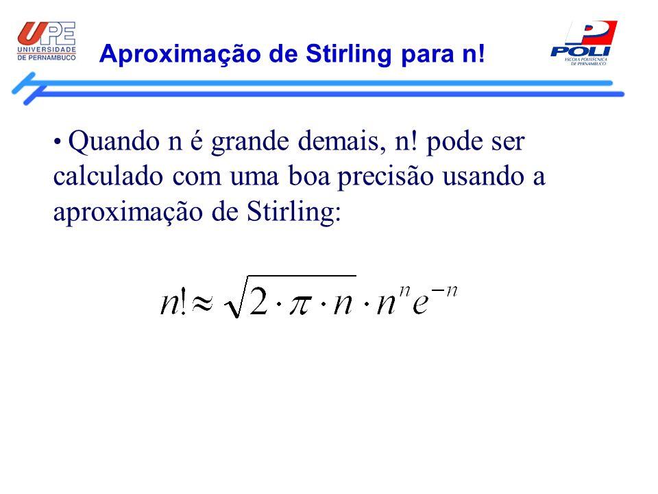 Aproximação de Stirling para n!