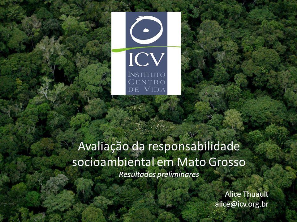 Avaliação da responsabilidade socioambiental em Mato Grosso