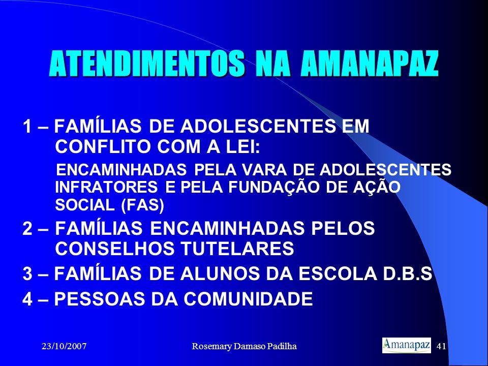 ATENDIMENTOS NA AMANAPAZ