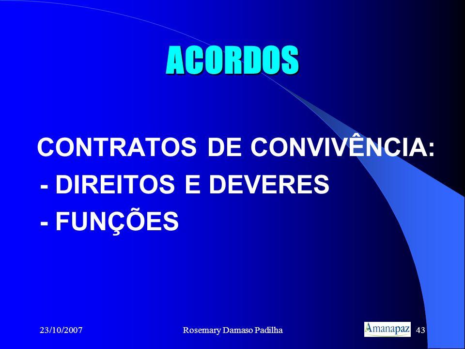 CONTRATOS DE CONVIVÊNCIA: