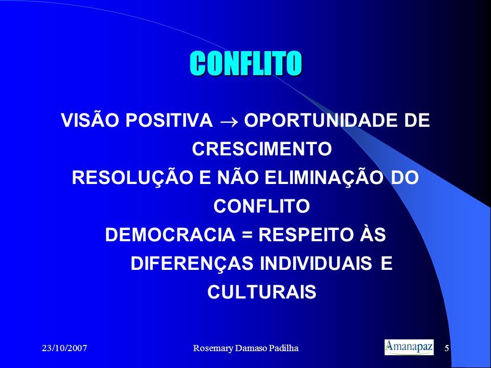 CONFLITO VISÃO POSITIVA  OPORTUNIDADE DE CRESCIMENTO