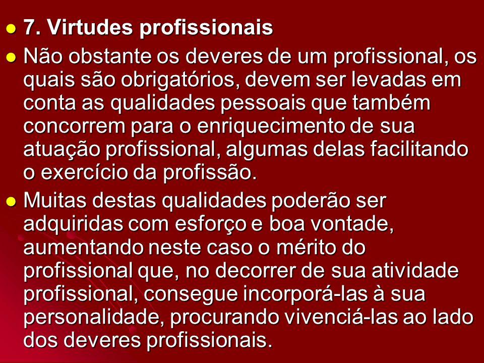 7. Virtudes profissionais