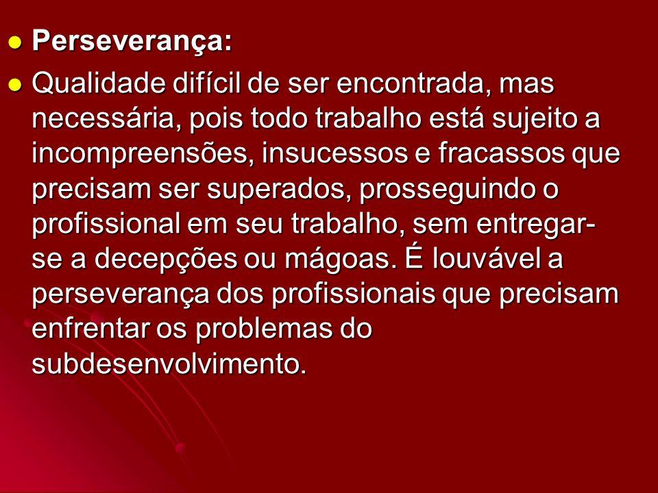 Perseverança: