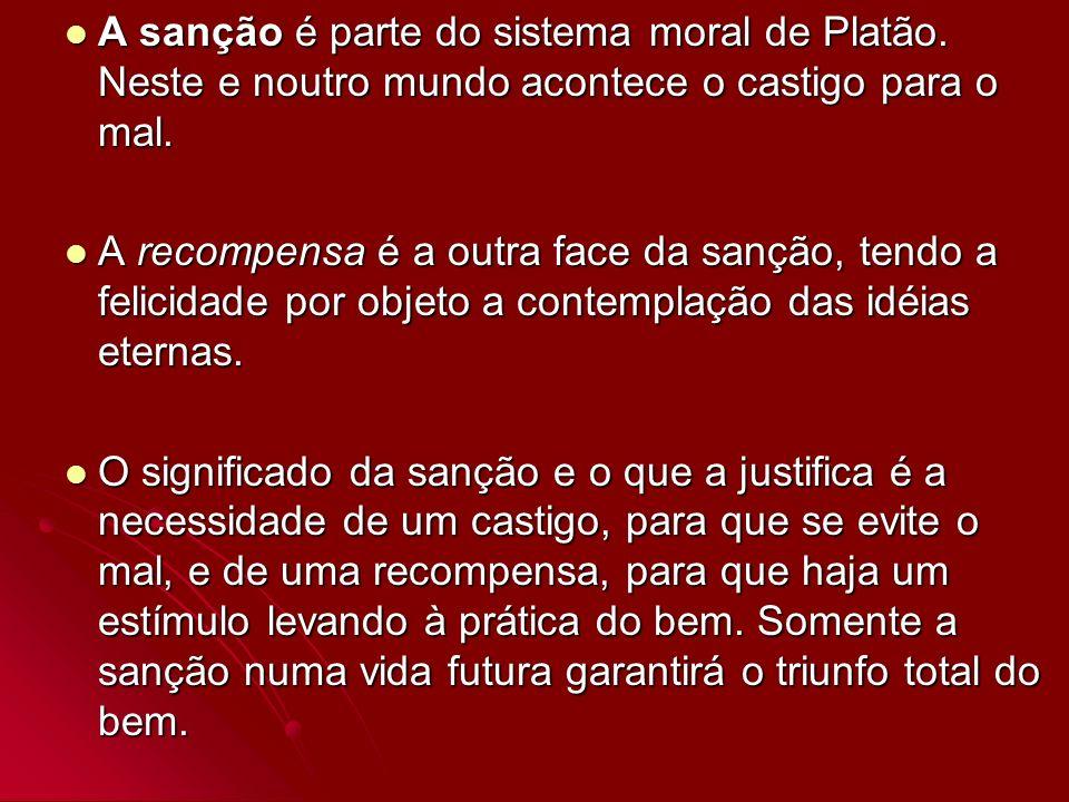 A sanção é parte do sistema moral de Platão