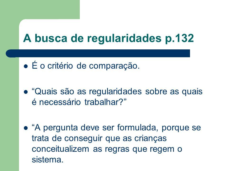 A busca de regularidades p.132