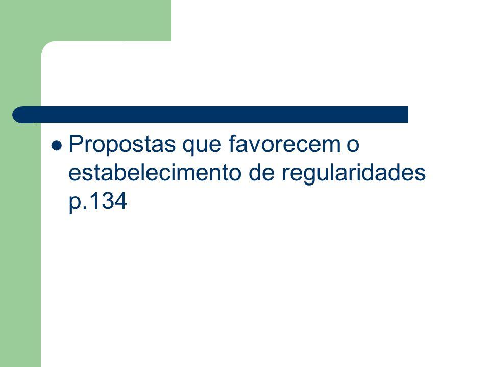 Propostas que favorecem o estabelecimento de regularidades p.134
