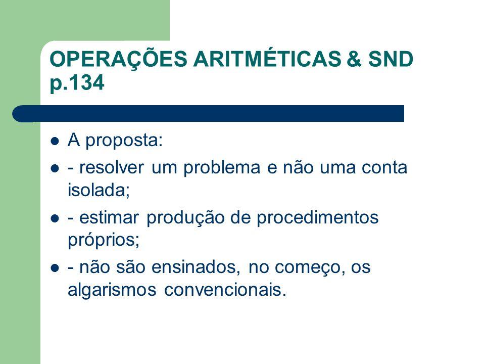 OPERAÇÕES ARITMÉTICAS & SND p.134