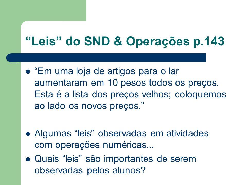 Leis do SND & Operações p.143