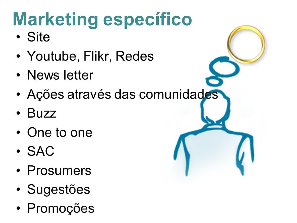 Marketing específico Site Youtube, Flikr, Redes News letter