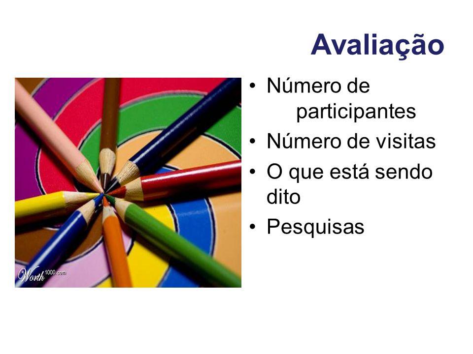 Avaliação Número de participantes Número de visitas