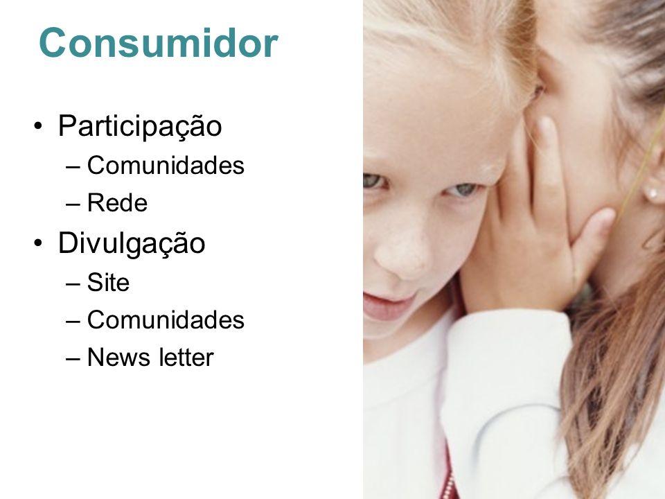 Consumidor Participação Comunidades Rede Divulgação Site News letter