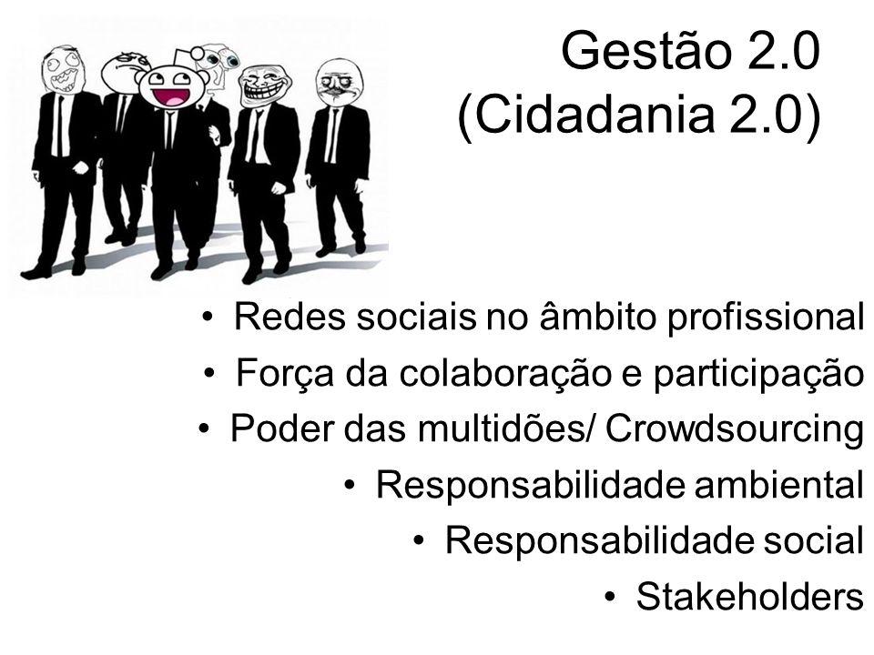 Gestão 2.0 (Cidadania 2.0) Redes sociais no âmbito profissional