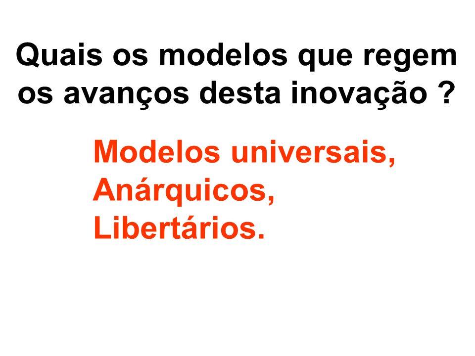 Quais os modelos que regem os avanços desta inovação