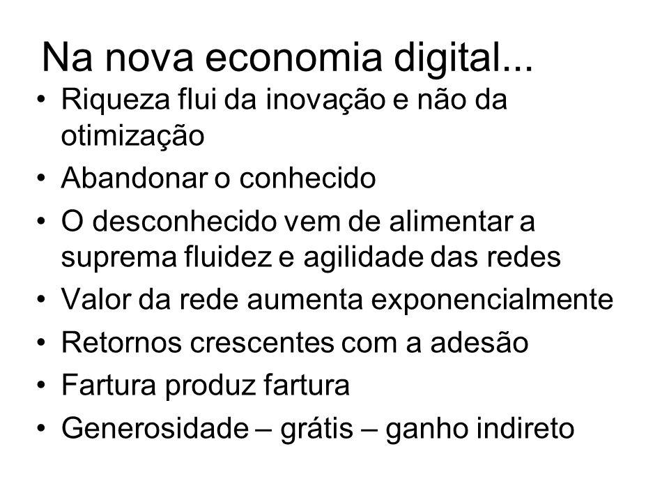 Na nova economia digital...