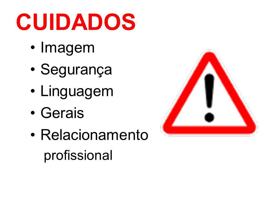 CUIDADOS Imagem Segurança Linguagem Gerais Relacionamento profissional