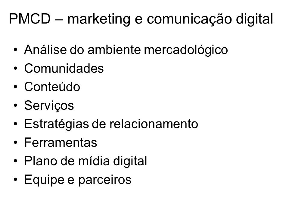 PMCD – marketing e comunicação digital