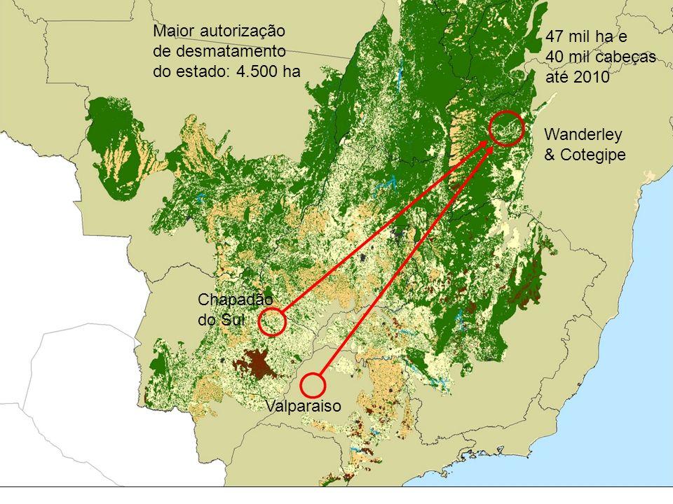 Maior autorização de desmatamento do estado: 4.500 ha