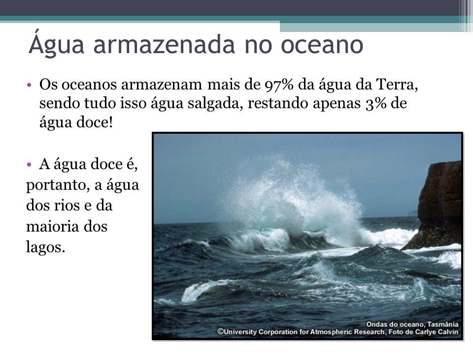 Água armazenada no oceano