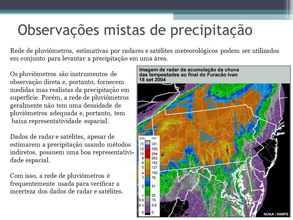 Observações mistas de precipitação