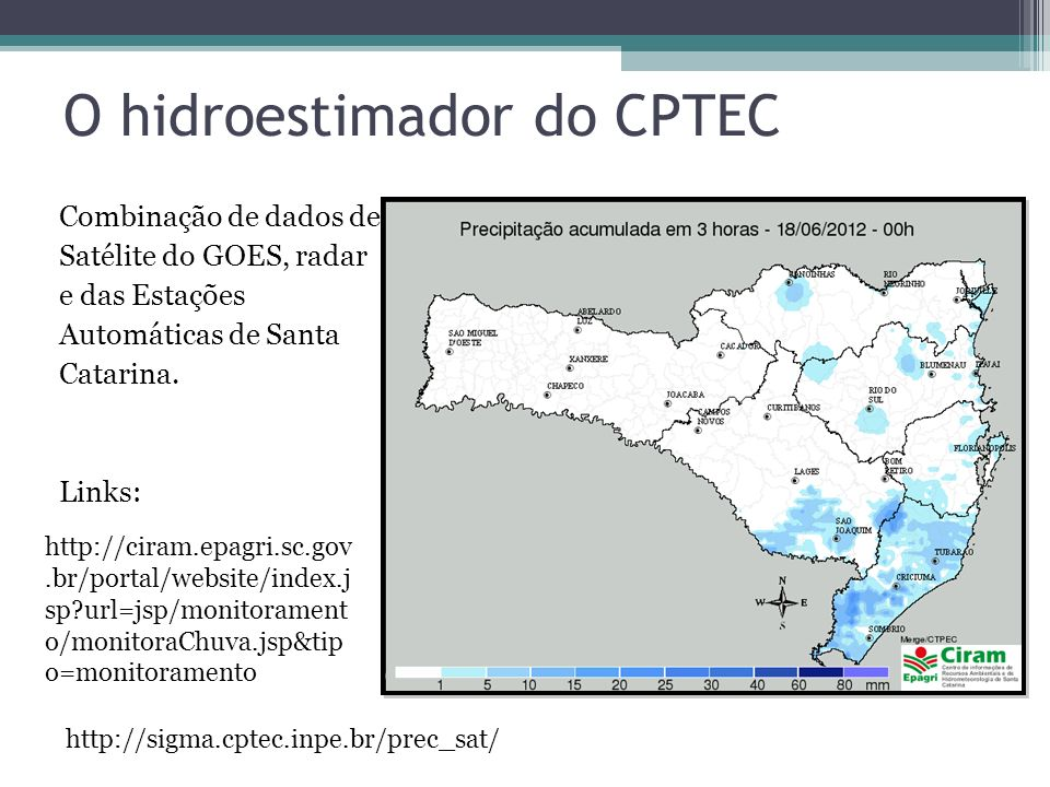O hidroestimador do CPTEC