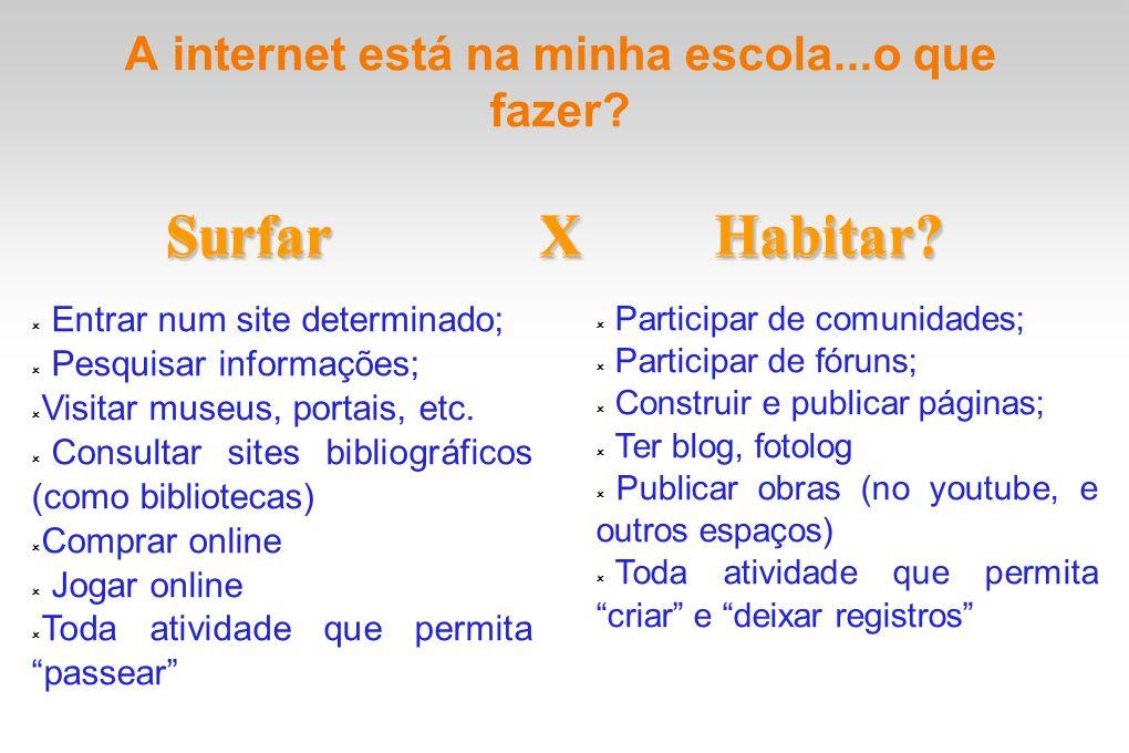 A internet está na minha escola...o que fazer