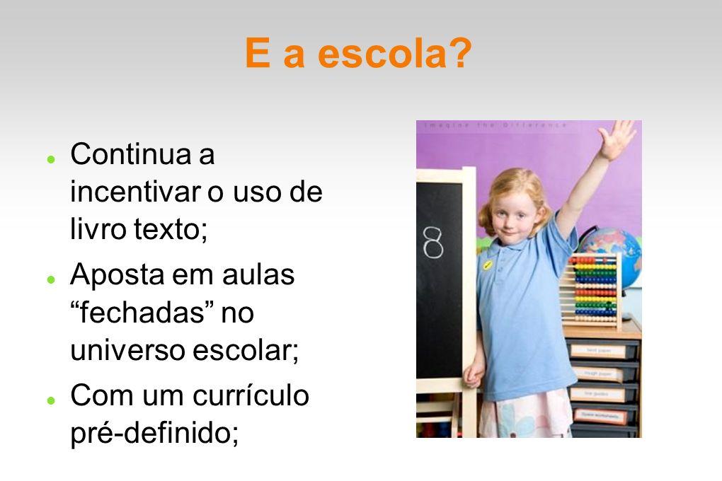 E a escola Continua a incentivar o uso de livro texto;