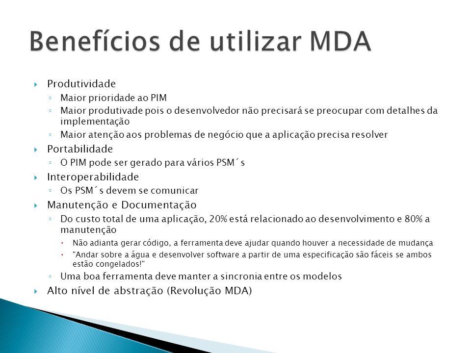 Benefícios de utilizar MDA