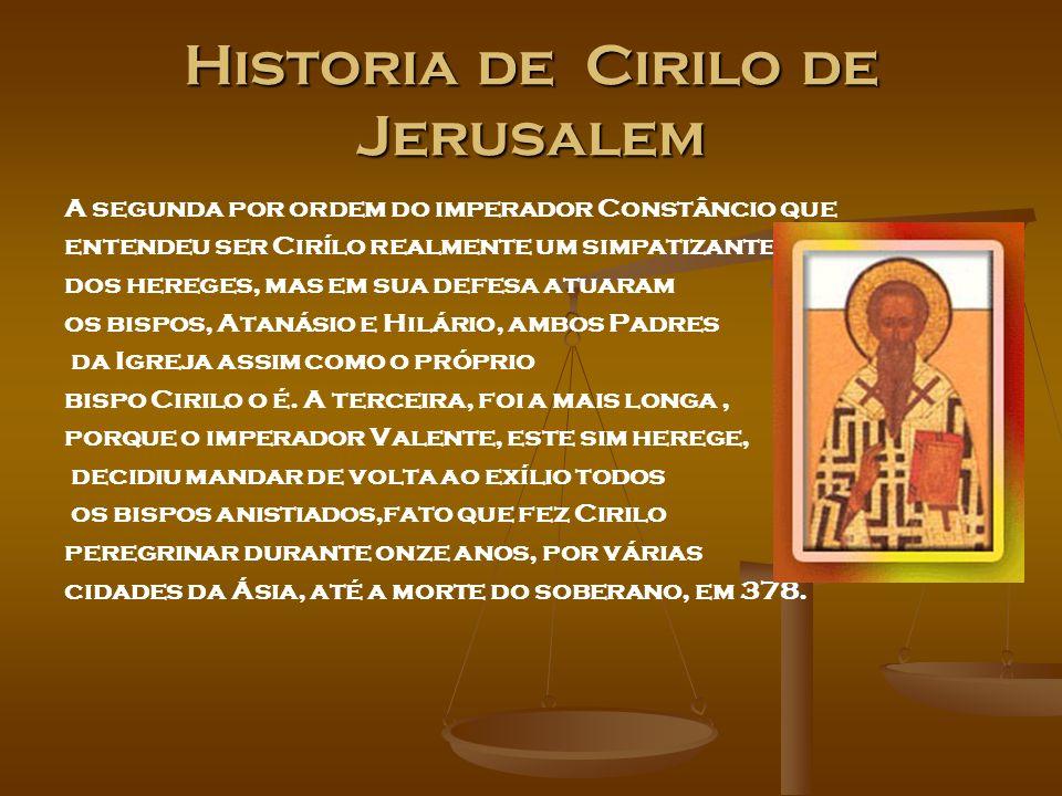 Historia de Cirilo de Jerusalem