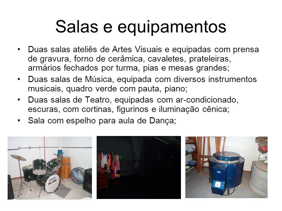 Salas e equipamentos