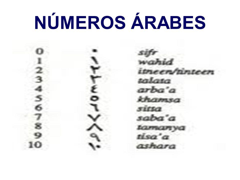 NÚMEROS ÁRABES