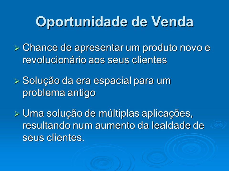 Oportunidade de VendaChance de apresentar um produto novo e revolucionário aos seus clientes. Solução da era espacial para um problema antigo.
