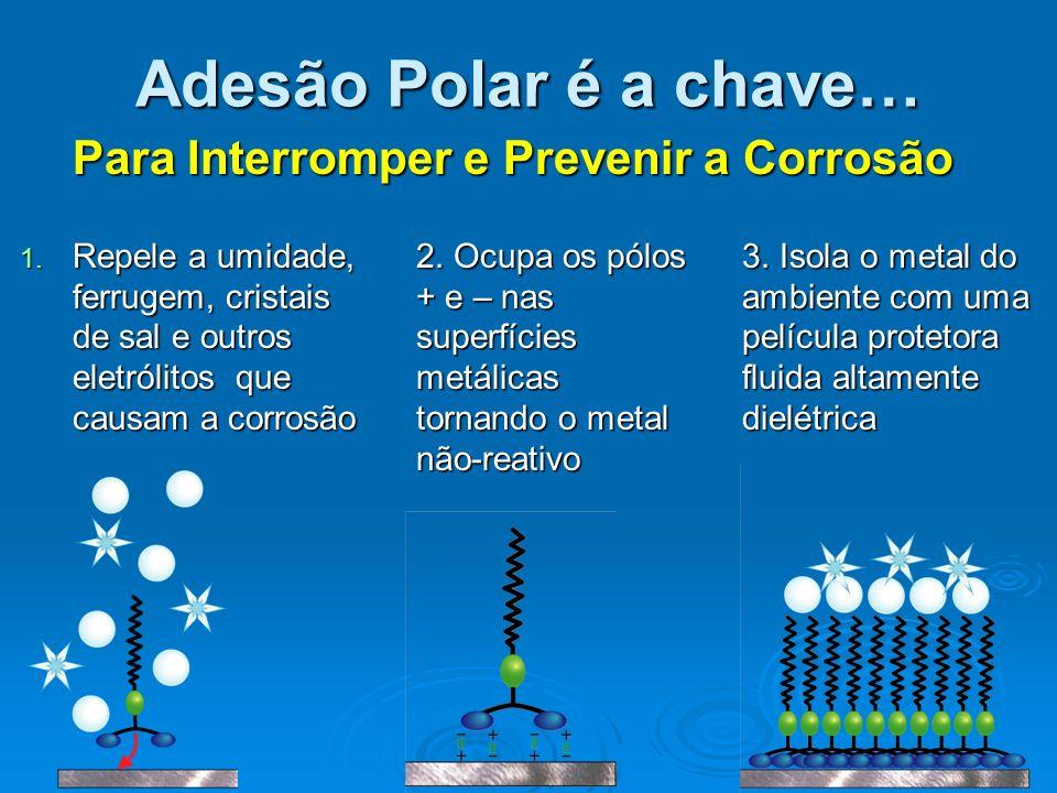 Adesão Polar é a chave… Para Interromper e Prevenir a Corrosão